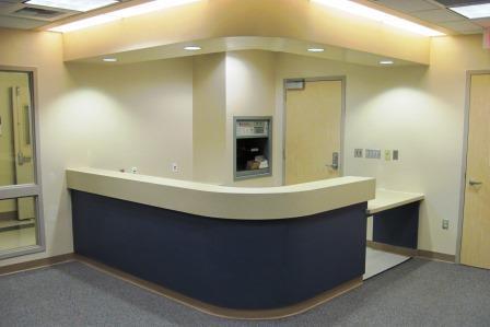 treatment room casework p lam finish